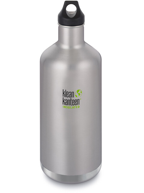 Klean Kanteen Classic Vacuum Insulated juomapullo Loop Cap 1900ml , harmaa